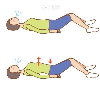 내부 근육을 단련하는 운동법으로 필라테스나 요가를 시작하면 제일 먼저 배우게 되는 것이 바로 이 호흡법이죠! 하는 방법? 등을 곧게 세우고 가슴을 편 상태에서 복부를 집어넣고 호흡합니다. 숨을 내쉴 땐 몸통이 커진다는 생각으로 횡격막을 열고, 숨을 들이마실 땐 몸통을 최대한으로 조인다고 생각하면서 횡격막을 닫아주면 되죠.