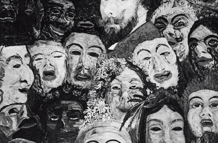 James Ensor, 'My Portrait Surrounded by Masks'(1899).