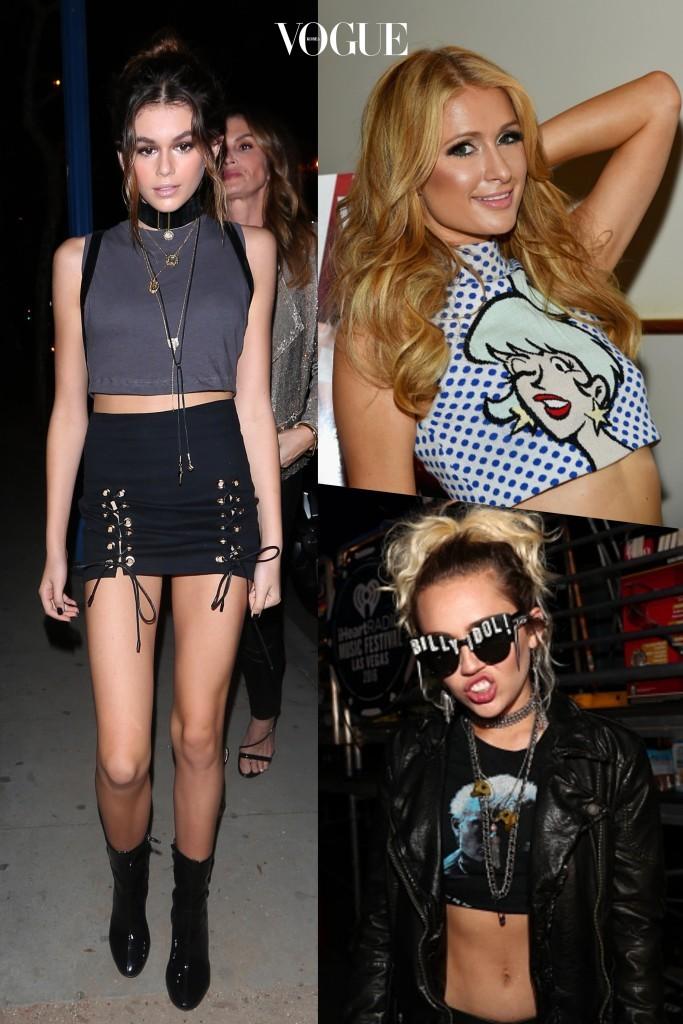 여기에 또 추가된 팁을 더한다면? 8 하이 네크라인의 크롭트 톱 Kaia Jordan Gerber/ Paris Hilton/ Miley Cyrus