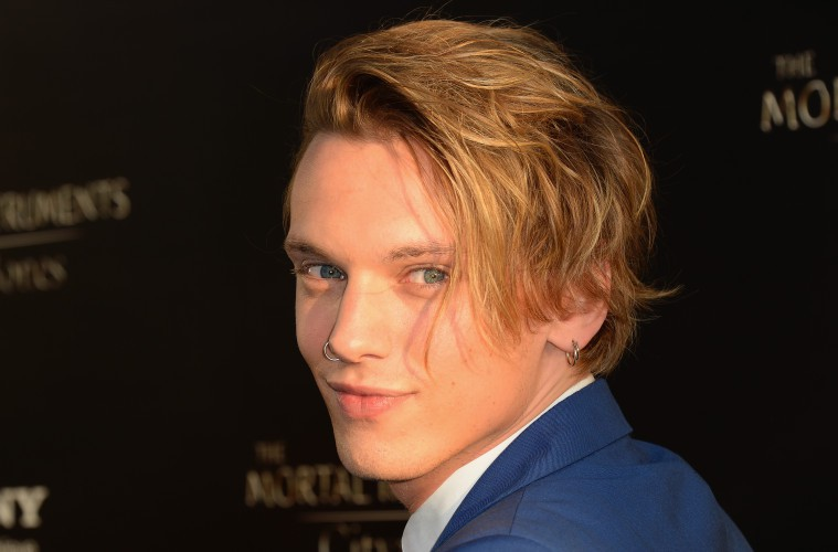 HOLLYWOOD, CA - AUGUST 12:  Actor Jamie Campbell Bower attends the premiere of Screen Gems & Constantin Films' 'The Mortal Instruments: City of Bones' at ArcLight Cinemas Cinerama Dome on August 12, 2013 in Hollywood, California.  (Photo by Mark Davis/Getty Images)