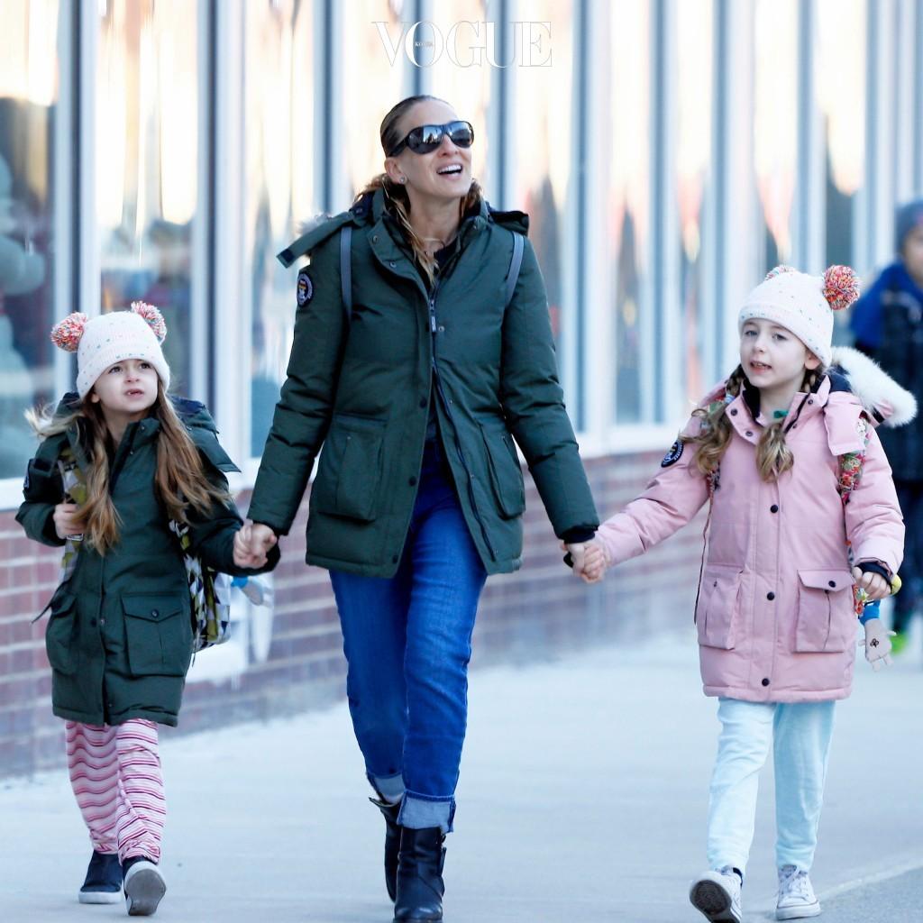 사라 제시카 파커의 쌍둥이 두 딸들, 마리온과 타비사 Sarah Jessica Parker, Marion and Tabitha Broderick