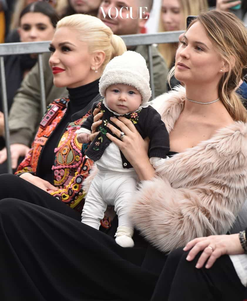 Adam Levine honored with star on the Hollywood Walk of Fame. Hollywood, California. Pictured: Behati Prinsloo, Dusty Rose Levine, Gwen Stefani Ref: SPL1439393  100217   Picture by: AXELLE WOUSSEN/Bauergriffin.com