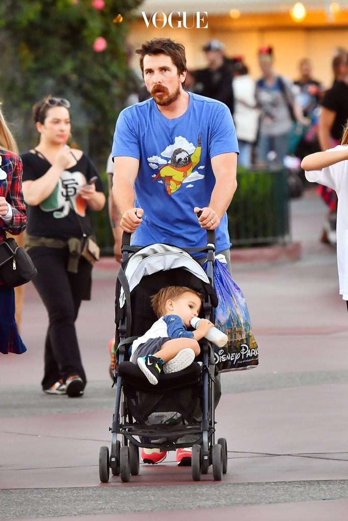 Christian Bale and wife Sibi spent the day with their children Emmaline and Joseph at Disneyland in California.  Pictured: Christian Bale, Sandra Blažic, Emmaline Bale and Joseph Bale Ref: SPL1368582  121016   Picture by: Sharpshooter Images /Splash Splash News and Pictures Los Angeles:310-821-2666 New York:212-619-2666 London:870-934-2666 photodesk@splashnews.com