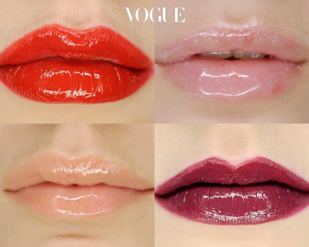 립글로스는 진한 립스틱을 발랐을 때도, 누드톤의 립스틱을 발랐을 때도 진가를 발휘합니다.  유리알처럼 반짝이는 텍스처 덕분에 입술의 주름을 감쪽같이 가려주고, 얇은 입술을 도톰하게 살려주는 착시 효과를 가져다주죠.