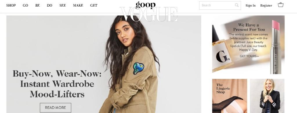 기네스 펠트로가 2008년 론칭한 라이프스타일 사이트, GOOP.com은 이미 너무 유명하죠. 이 사이트가 이토록 인기인 것은 간결한 스타일과 끝내주는 상품 큐레이션 때문만은 아니에요. 거기에는 삶에 대한 진심이 있기 때문이죠.