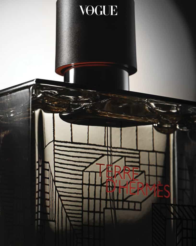 에르메스 Hermès'떼르 데르메스 2017 리미티드 에디션'. 그래픽 아티스트 나이젤 피크가 도시를 평면과 기하학 패턴으로 재해석한 한정판.