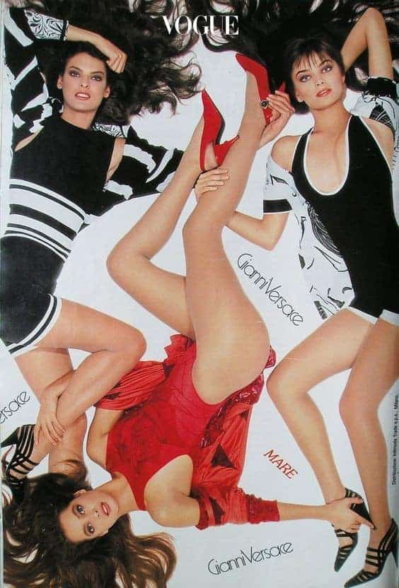 Versace Campaign SS 1988 - Linda Evangelista, Paulina Porizkova, Christy Turlington by Richard Avedon