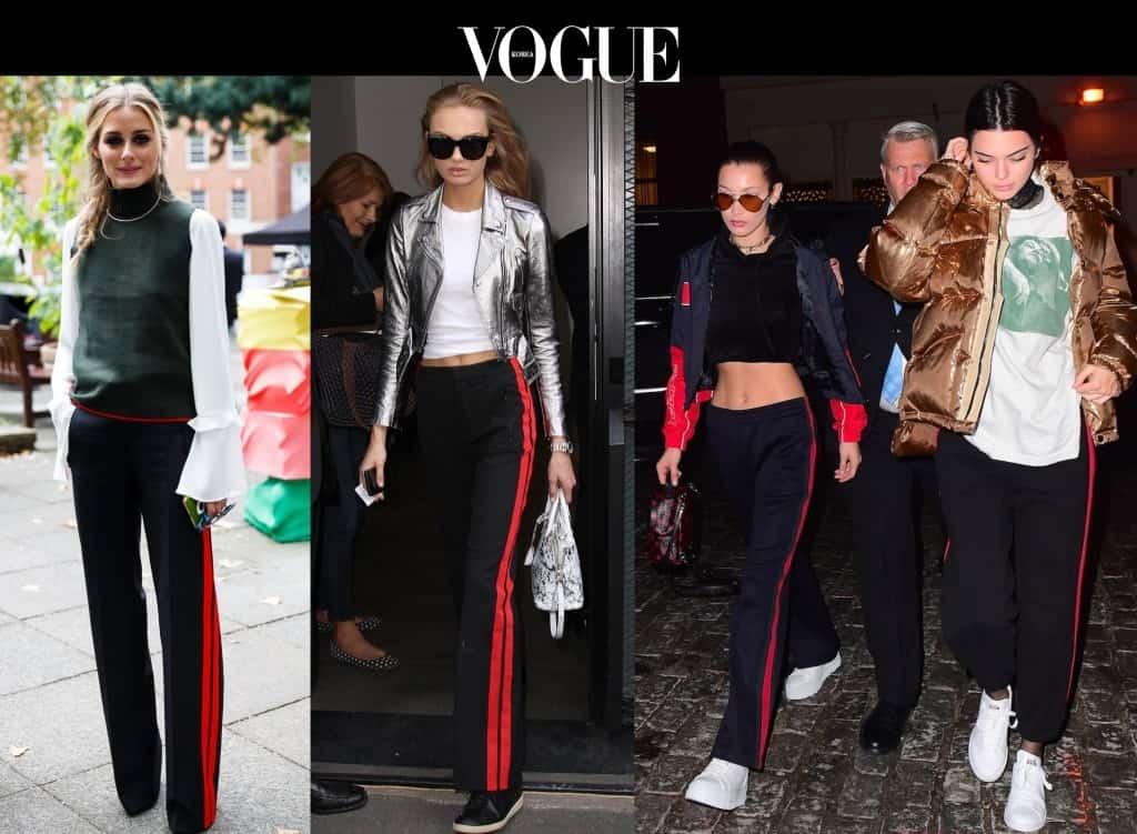 #6 옆선 팬츠 Olivia Palermo/ Romee Strijd/ Bella Hadid and Kendall Jenner