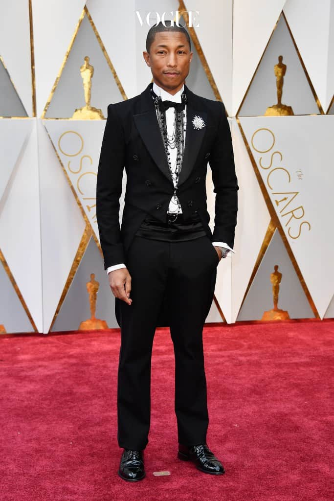 HOLLYWOOD, CA - FEBRUARY 26: Producer Pharrell Williams attends the 89th Annual Academy Awards at Hollywood & Highland Center on February 26, 2017 in Hollywood, California.  (Photo by Frazer Harrison/Getty Images)
