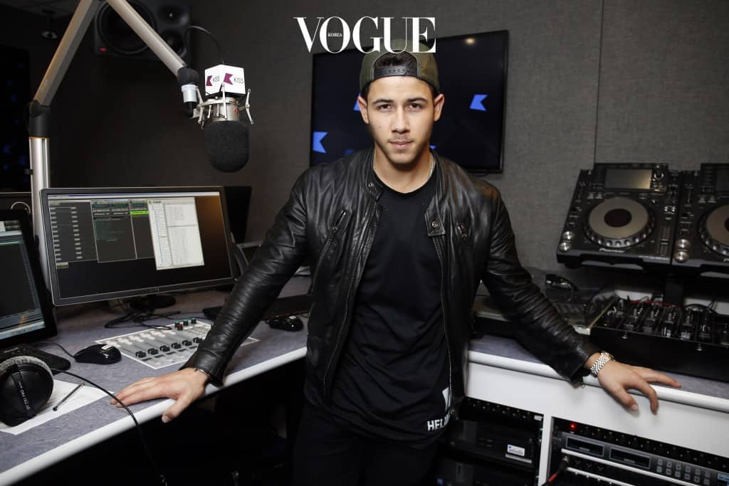 LONDON, ENGLAND - OCTOBER 17: (EXCLUSIVE COVERAGE) Nick Jonas pictured during a visit to Kiss FM on October 17, 2014 in London, England. (Photo by Alex Huckle/Getty Images)