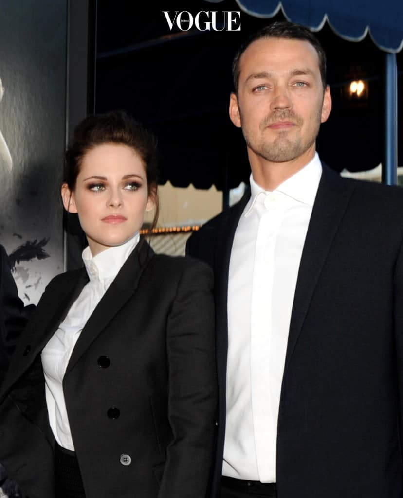 "LOS ANGELES, CA - MAY 29:  Actress Kristen Stewart (L) and director Rupert Sanders arrive at a screening of Universal Pictures' ""Snow White and The Huntsman"" at the Village Theatre on May 29, 2012 in Los Angeles, California.  (Photo by Kevin Winter/Getty Images)"