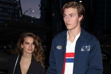 Lucky Blue Smith and Stormi Bree spotted out and about in Milan, Italy.  Pictured: Lucky Blue Smith and Stormi Bree Ref: SPL1415607  150117   Picture by:  Splash News  Splash News and Pictures Los Angeles:	310-821-2666 New York:	212-619-2666 London:	870-934-2666 photodesk@splashnews.com