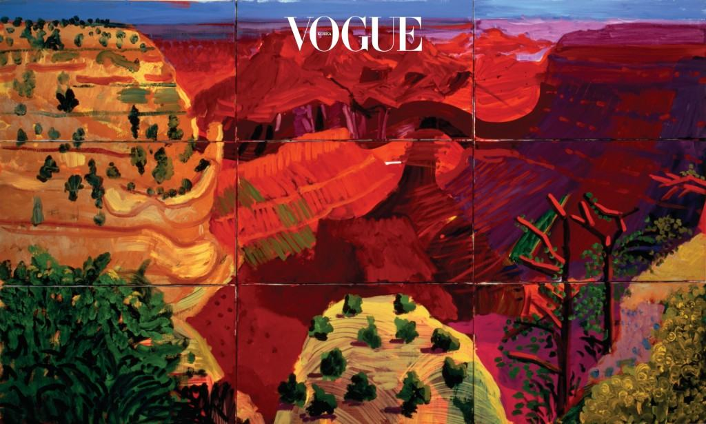 호크니의 -애리조나의 풍경을 묘사한 시리즈 중 하나.