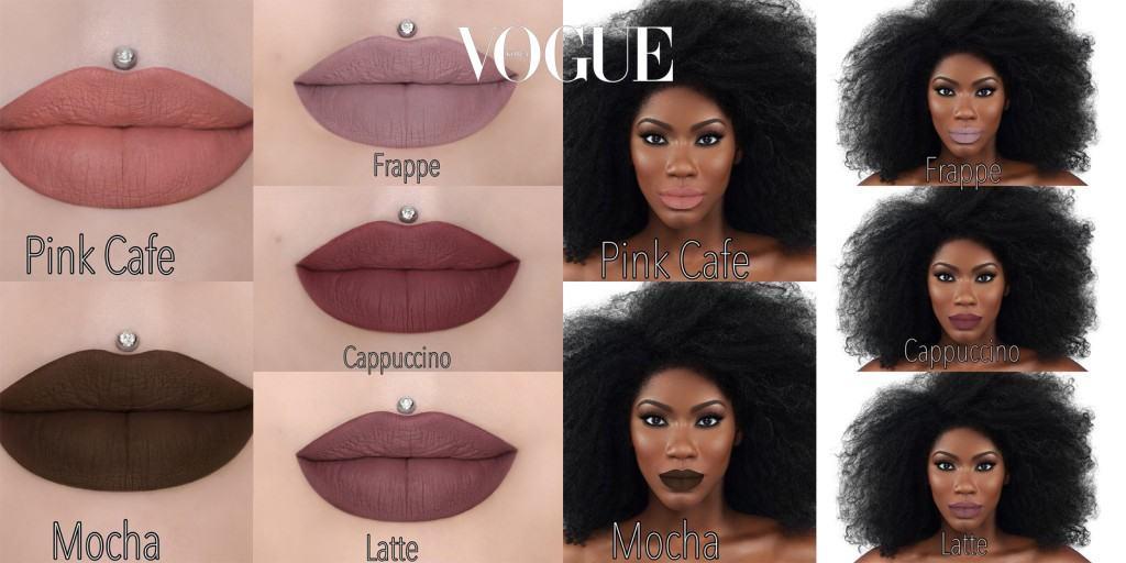 여성들이 좋아하는 다양한 커피에서 영감은 얻은 립 컬러들. 핑크 카페, 모카, 프라페, 카푸치노, 라테… 네이밍도 너무 재미있죠?