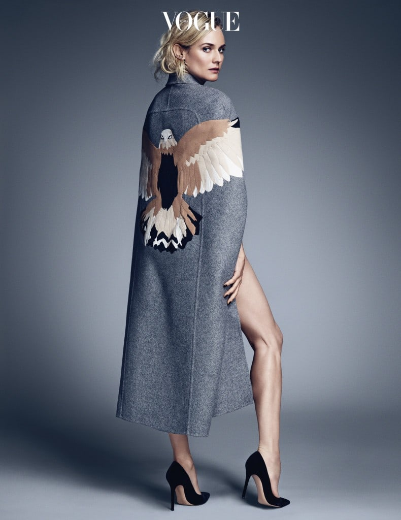 개성과 스타일을 갖춘 여성을 선정하는 '우먼 시리즈'의 뮤즈였던 다이앤 크루거.
