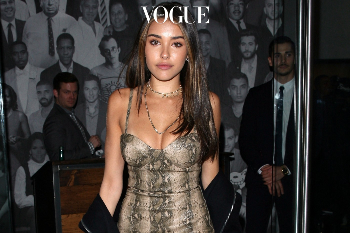 Madison Beer shows off her snake skin dress as she dines at Catch restaurant in West Hollywood.  Pictured: Madison Beer Ref: SPL1422726  140117   Picture by: Photographer Group / Splash News  Splash News and Pictures Los Angeles:	310-821-2666 New York:	212-619-2666 London:	870-934-2666 photodesk@splashnews.com