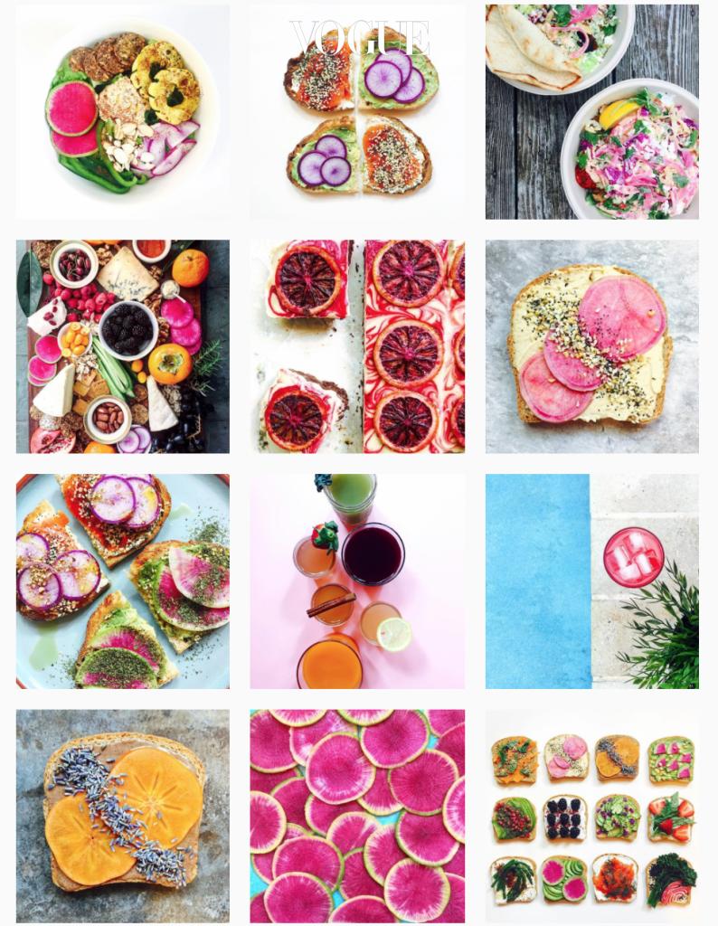 그녀의 인스타그램 피드엔 총천연색의 음식 사진들로 가득합니다. 유니콘 / 머메이드 토스트 말고도 샐러드 볼, 착즙 주스, 스무디 볼, 오픈 샌드위치 등 그 종류도 다양하죠!