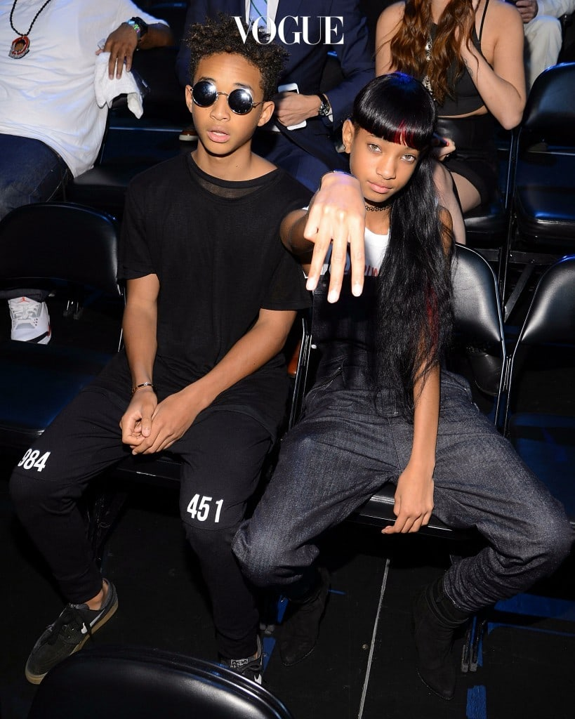 NEW YORK, NY - AUGUST 25: Jaden Smith and Willow Smith attend the 2013 MTV Video Music Awards at the Barclays Center on August 25, 2013 in the Brooklyn borough of New York City.  (Photo by Larry Busacca/Getty Images for MTV)