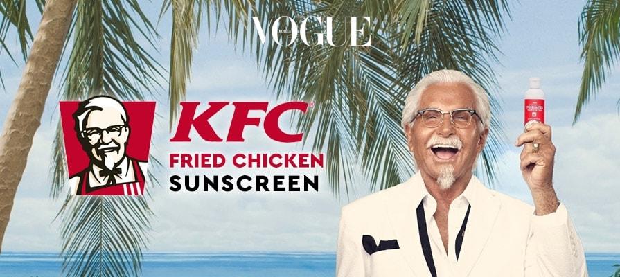 온라인 숍을 통해 3,000개 한정으로 판매했던 'Extra Crispy Sunscreen'은 바르는 순간 바삭한 크리스피 치킨향이 순식간에 퍼지는 자외선 차단제랍니다.