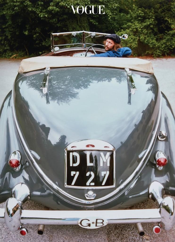 Eric in His Lancia(1976). 란치아를 사랑한 에릭 클랩튼.