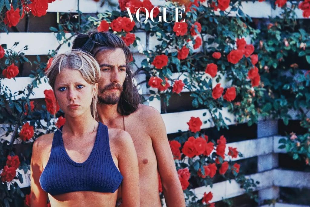 Pattie & George's Rose Garden(1968). 신혼 초 장미가 핀 정원에서
