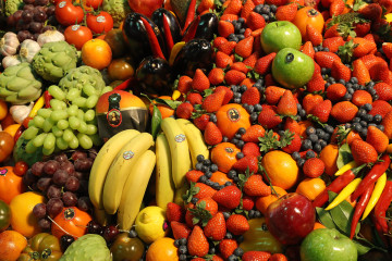 BERLIN, GERMANY - FEBRUARY 08:  Fresh fruits and vegetables lie on display at a Spanish producer's stand at the Fruit Logistica agricultural trade fair on February 8, 2017 in Berlin, Germany. The fair, which takes place from February 8-10, is taking place amidst poor weather and harvest conditions in Spain that have led to price increases and even rationing at supmermarkets for fresh vegetables across Europe.  (Photo by Sean Gallup/Getty Images)