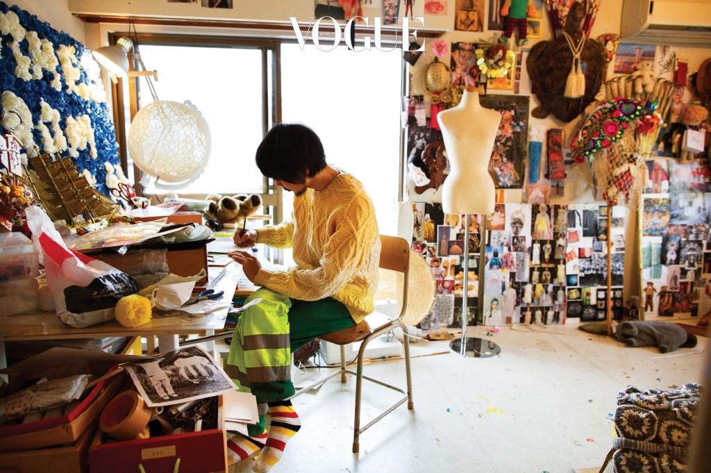 Yoshikazu Yamagata at His Studio, Tokyo, 2012