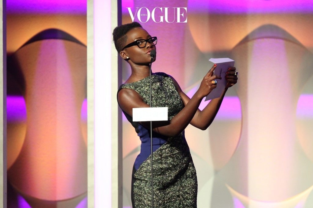BEVERLY HILLS, CA - APRIL 12:  Actress Lupita Nyong'o speaks onstage during the 25th Annual GLAAD Media Awards at The Beverly Hilton Hotel on April 12, 2014 in Beverly Hills, California.  (Photo by Gabriel Olsen/Getty Images)