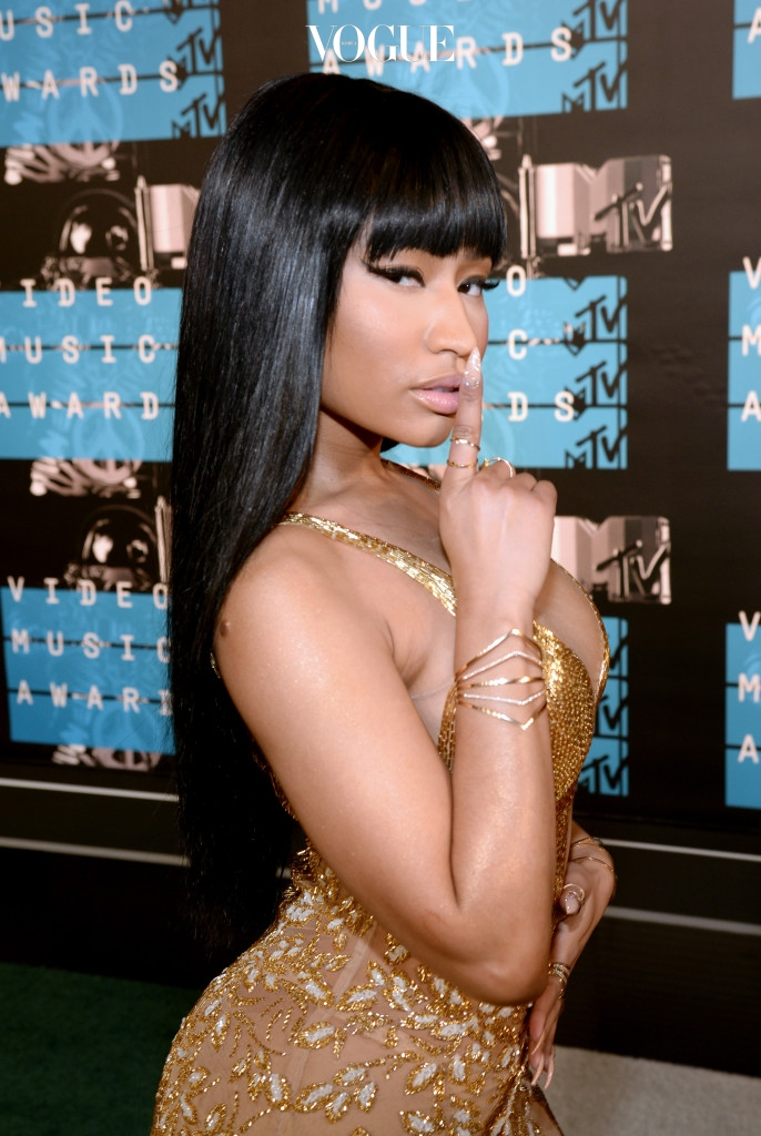 LOS ANGELES, CA - AUGUST 30:  Recording artist Nicki Minaj attends the 2015 MTV Video Music Awards at Microsoft Theater on August 30, 2015 in Los Angeles, California.  (Photo by Larry Busacca/Getty Images)