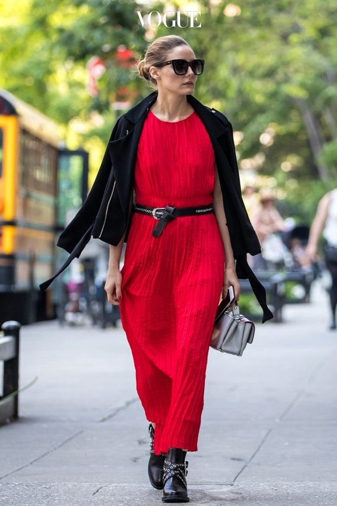 올리비아 팔레르모 Olivia Palermo 바나나 리퍼블릭(Banana Republic) 레드 맥시 드레스
