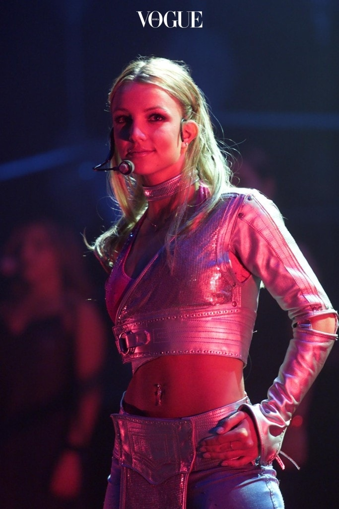 Singer Britney Spears performing live in concert at Jones Beach Marine Theater in New York. 6/27/00 Photo: Scott Gries/Getty Images