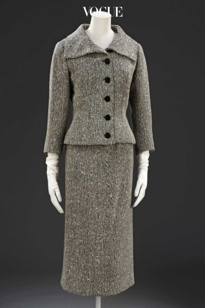 Skirt suit in wool tweed lined with silk by Cristobal-Balenciaga, Paris, 1954