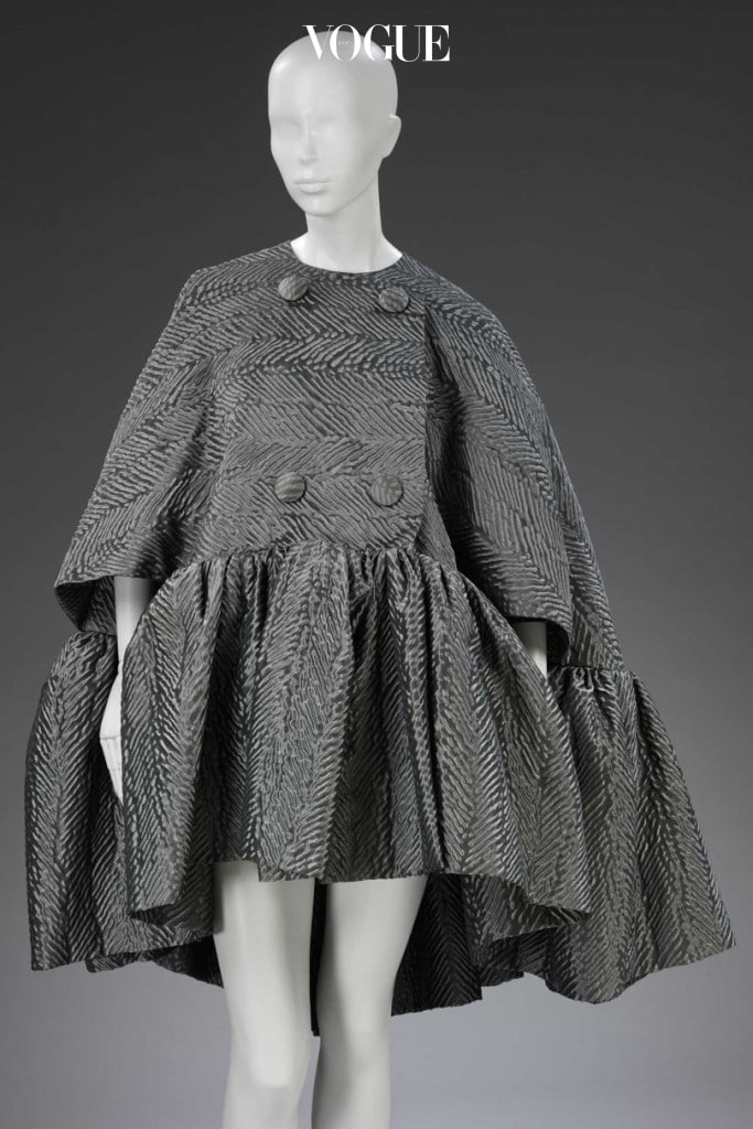 Cape, dress and boots by Nicolas Ghesquière for Balenciaga, Paris, Autumn/Winter 2006. On loan from the Balenciaga Archives, Paris