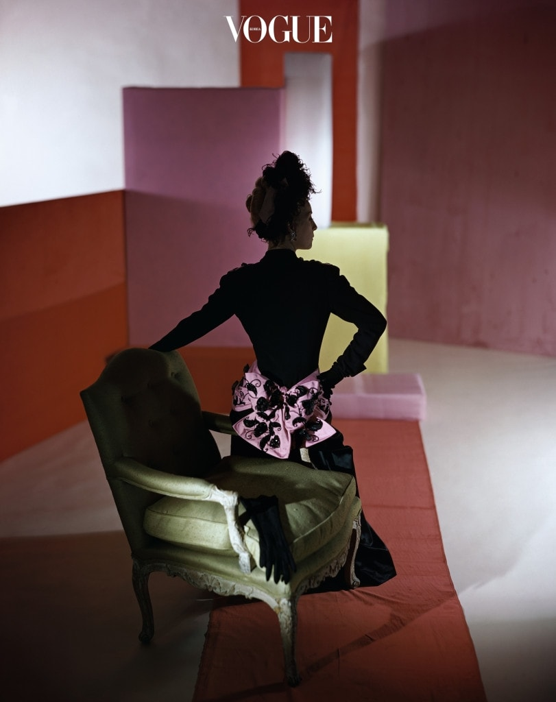 Horst P. Horst, 'Dinner suit and headdress by Schiaparelli', 1947 Ⓒ Condé Nast Archive.