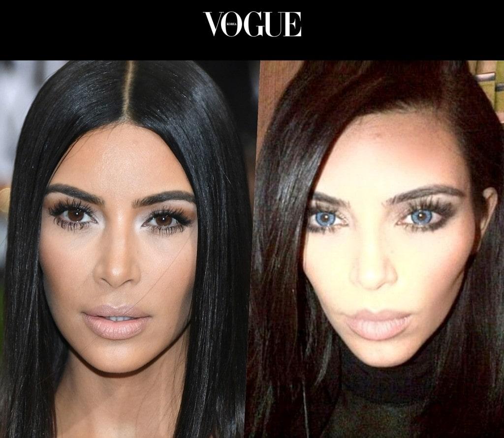 킴 카다시안 Kim Kardashian (원래 눈/렌즈낀 후)