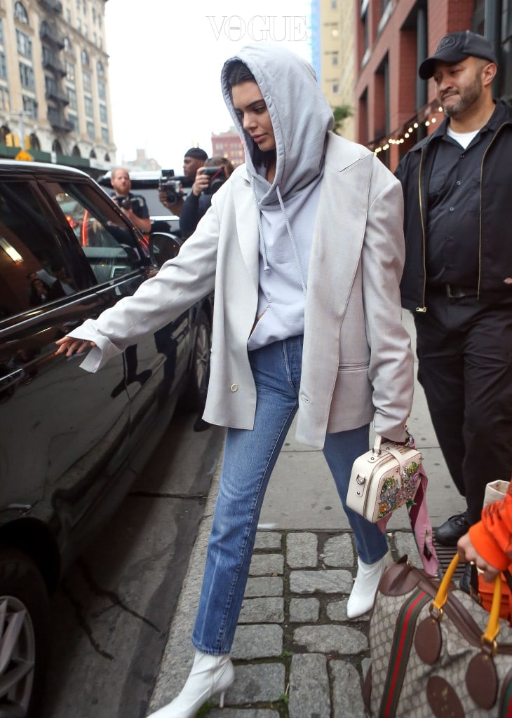 A$AP Rocky and Kendall Jenner are seen leaving an apartment in New York Cit, NY.  Pictured: Kendall Jenner Ref: SPL1513416  050617   Picture by: Jackson Lee / Splash News Splash News and Pictures Los Angeles:310-821-2666 New York:212-619-2666 London:870-934-2666 photodesk@splashnews.com
