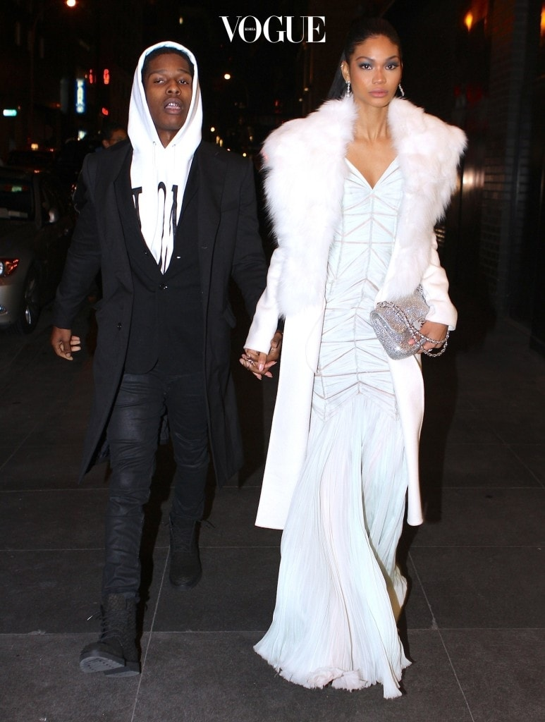 Asap Rocky was spotted out with girlfriend Chanel Iman on a NYC date night. Pictured: Asap Rocky and Chanel Iman Ref: SPL657675  251113   Picture by: 247PapsTV / Splash News Splash News and Pictures Los Angeles:310-821-2666 New York:212-619-2666 London:870-934-2666 photodesk@splashnews.com