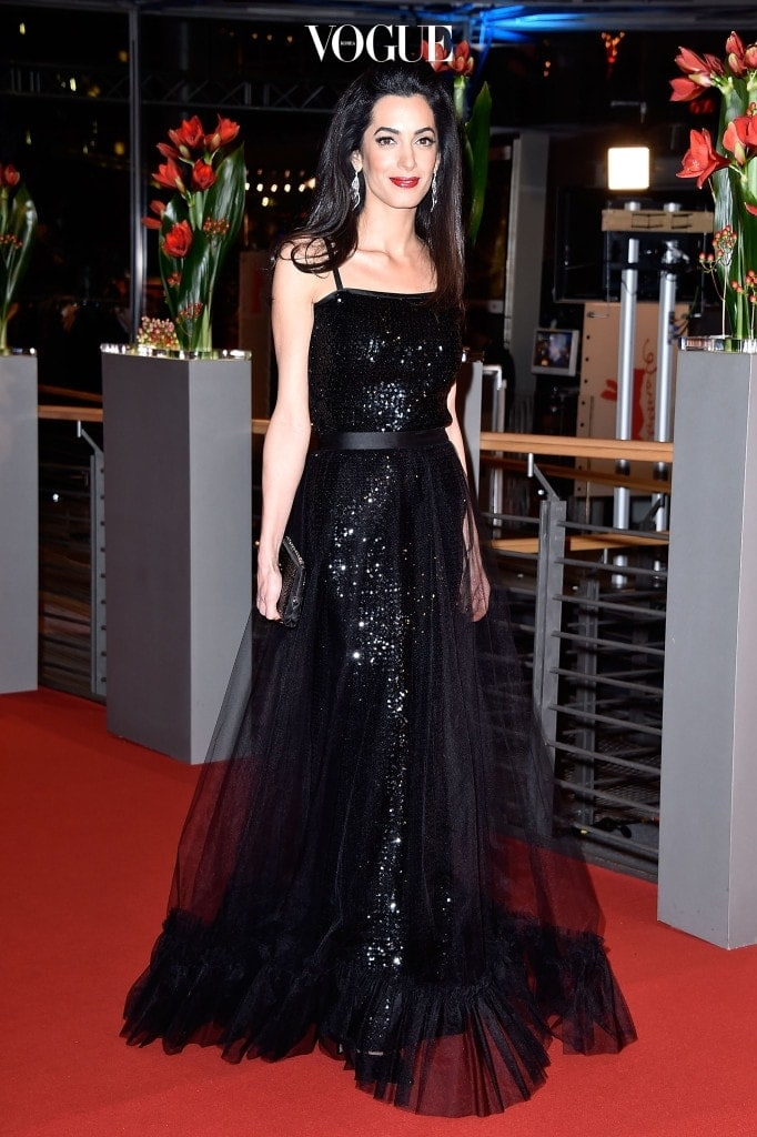 BERLIN, GERMANY - FEBRUARY 11:  Amal Clooney attends the 'Hail, Caesar!' premiere during the 66th Berlinale International Film Festival Berlin at Berlinale Palace on February 11, 2016 in Berlin, Germany.  (Photo by Pascal Le Segretain/Getty Images)