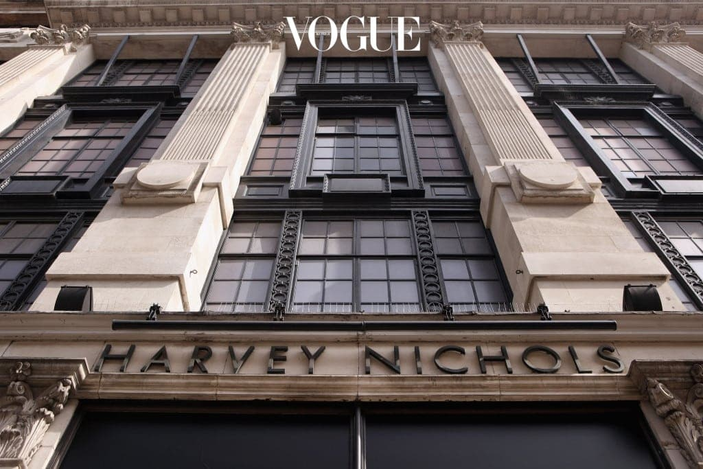 LONDON, ENGLAND - MARCH 24:  An exterior view of Harvey Nichols department store in Knightsbridge on March 24, 2011 in London, England. Founded in 1813 as a linen shop, the brand now has stores all over the world selling luxury clothing, accessories and food.  Millions of tourists are expected to visit London for the wedding of Prince William and Kate Middleton in April 2011 and the Olympic Games in 2012.  (Photo by Oli Scarff/Getty Images)