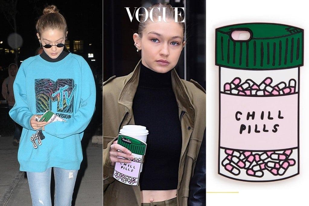 코믹 요소가 돋보이는 'Chill Pills'  케이스는 반도(Bando)사의 제품!