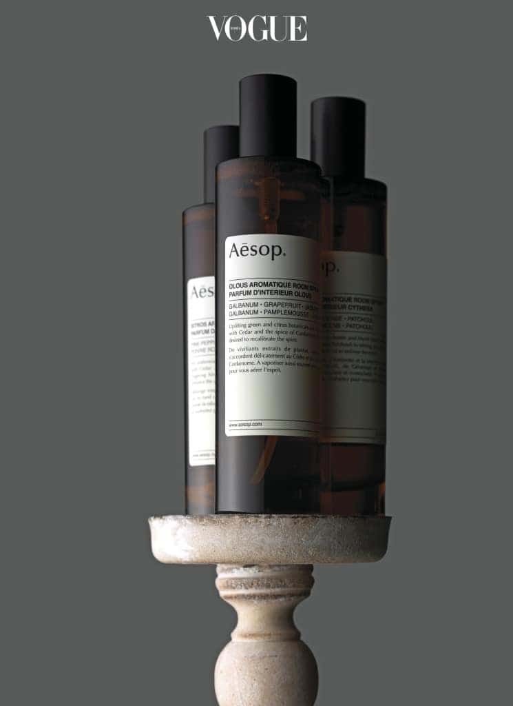 AESOP 'AROMATIC ROOM SPRAY'공간을 향으로 채워줄 이솝 '아로마틱 룸 스프레이'. 이솝 홈 퍼퓸 프로젝트의 첫 작품으로 은은하게 퍼지는 아로마 향이 매력적이다. 총 세 가지 향.