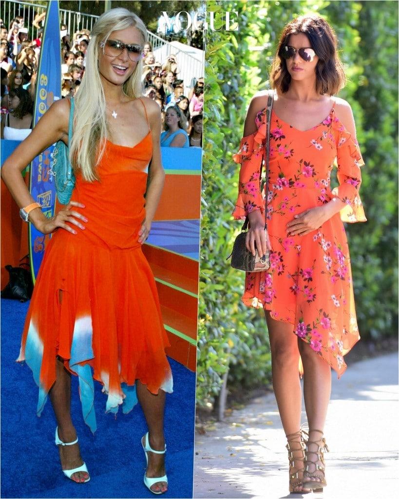 추종자: 루시 맥클린버그 Lucy Mecklenburgh 포착: 강렬한 오렌지색의 언발란스 드레스로 에스닉한 이미지 부각