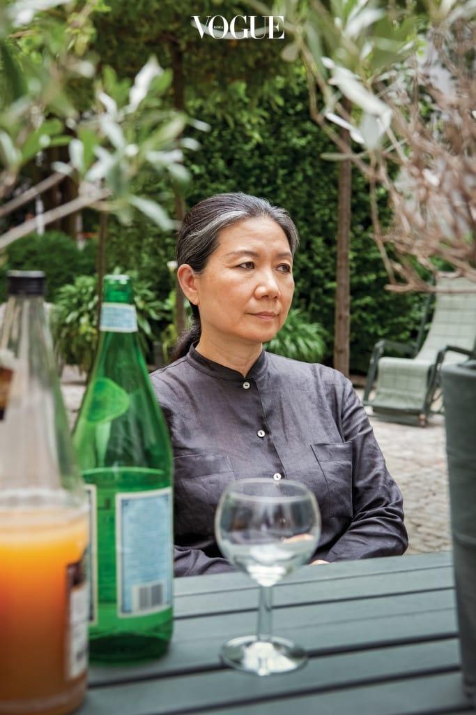 베를린 케베니히 갤러리에서 만난 김수자 작가.