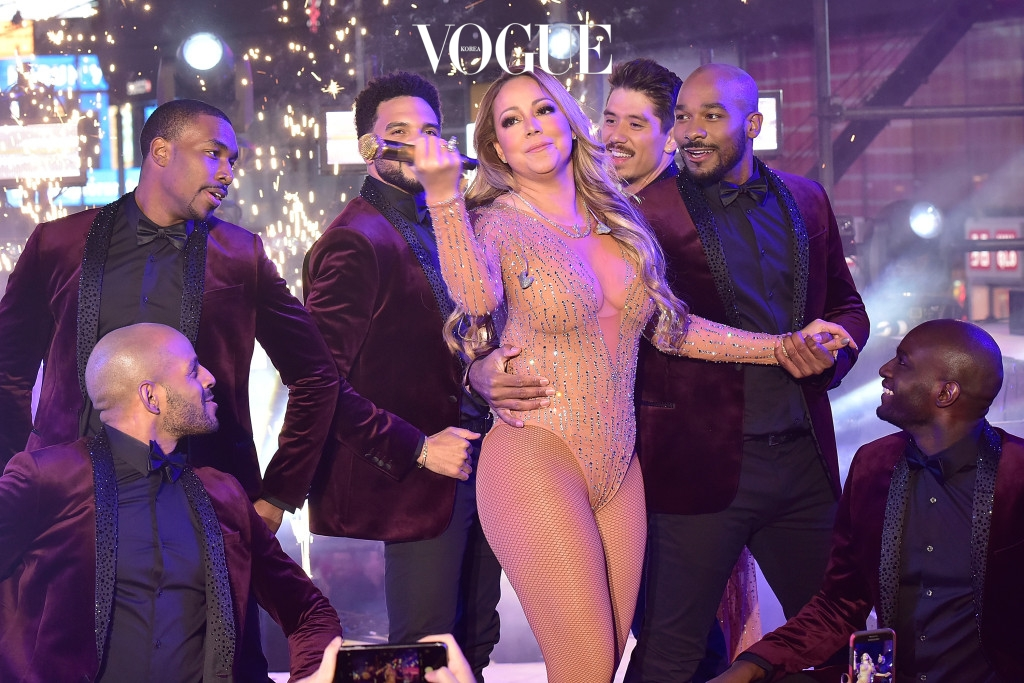 NEW YORK, NY - DECEMBER 31:  Mariah Carey performs during the New Year's Eve Countdown at Times Square on December 31, 2016 in New York City.  (Photo by Eugene Gologursky/Getty Images for TOSHIBA CORPORATION)