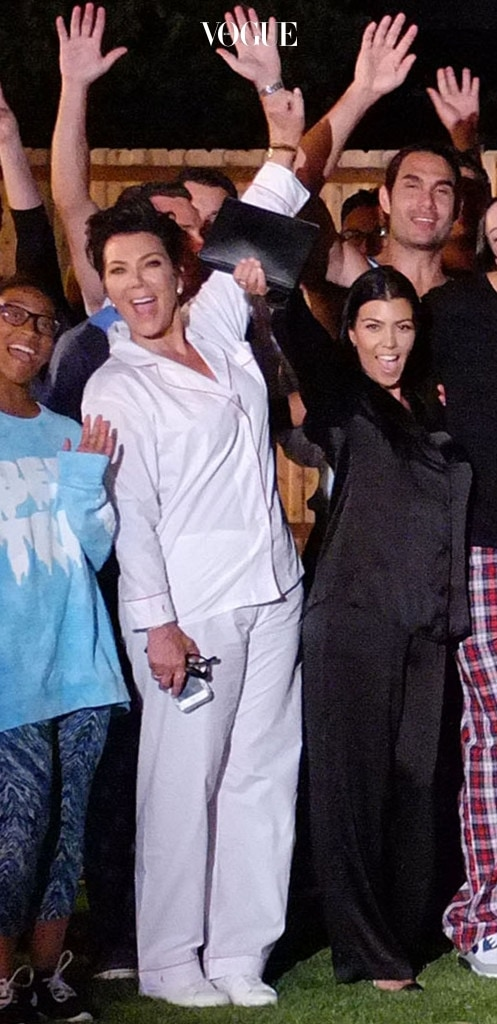 EXCLUSIVE: Kris Jenner and kourtney Kardashian attend Taryll Jacksons suprise 40th birthday party in Tarzana, CA. The party was being filmed for 'The Jacksons Next Generation' reality television show with a pajama theme. The Kourtney/Scott split was only a couple of days old on this date and Kourtney is seen next to TJ Jackson. The episode featuring this party aired today October 16th, 2015 but was shot on July 25th. Pictured: Kris Jenner,Kourtney kardashian Ref: SPL1146329  250715   EXCLUSIVE Picture by: Splash News Splash News and Pictures Los Angeles:310-821-2666 New York:212-619-2666 London:870-934-2666 photodesk@splashnews.com