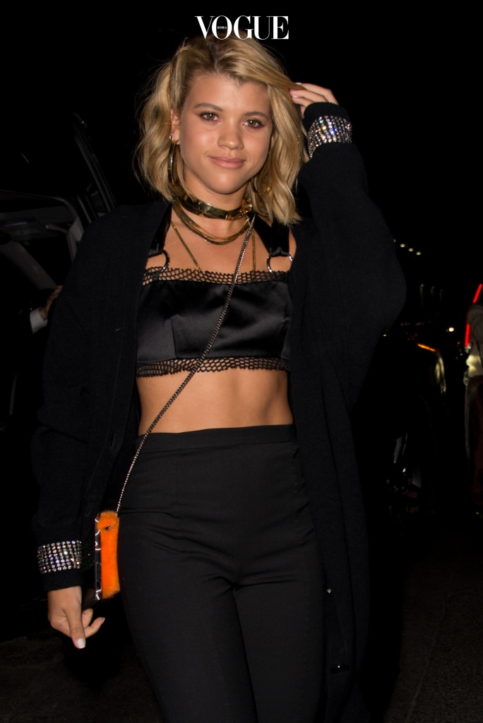 Celebrities attend Alexander Wang show after-party during NYFW in Brooklyn, New York, USA. Pictured: Sofia Richie Ref: SPL1575025  090917   Picture by: Matt Brandt / Splash News Splash News and Pictures Los Angeles:310-821-2666 New York:212-619-2666 London:870-934-2666 photodesk@splashnews.com