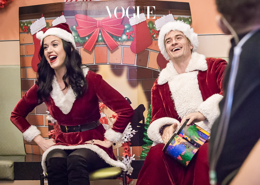 "Lovebirds Katy Perry and Orlando Bloom dressed up as Mr and Mrs Santa Claus to pay a surprise visit to some sick kids in California. Here are the A-list couple brining some smiles to the patients at the Children's Hospital of Los Angeles for the Christmas holidays. ""They joined families for a holiday sing-along, handed out gifts, took photos with each family, and asked everyone what the holidays meant to them,"" said Monica Rizzo, who works at the hospital. ""They also visited several patients who were too sick to leave their rooms, including a megafan who got a surprise happy birthday duet from Katy and Orlando,"" she added.   Pictured: Katy Perry and Orlando Bloom enjoying time with sick kids at the Children's Hospital of Los Angeles Ref: SPL1413270  211216   Picture by: CHLA/Splash News Splash News and Pictures Los Angeles:310-821-2666 New York:212-619-2666 London:	870-934-2666 photodesk@splashnews.com Splash News and Picture Agency does not claim any Copyright or License in the attached material. Any downloading fees charged by Splash are for Splash's services only, and do not, nor are they intended to, convey to the user any Copyright or License in the material. By publishing this material , the user expressly agrees to indemnify and to hold Splash harmless from any claims, demands, or causes of action arising out of or connected in any way with user's publication of the material."