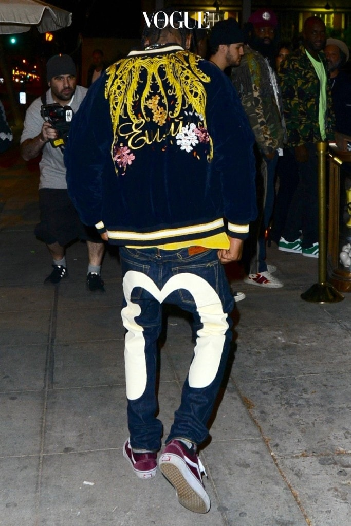 Travis Scott arrives at Catch Restaurant for Kendall Jenner's 21st birthday party in Los Angeles, California. Pictured: Travis Scott Ref: SPL1386480  031116   Picture by: Aficionado Group  / Splash News Splash News and Pictures Los Angeles:310-821-2666 New York: 212-619-2666 London:870-934-2666 photodesk@splashnews.com