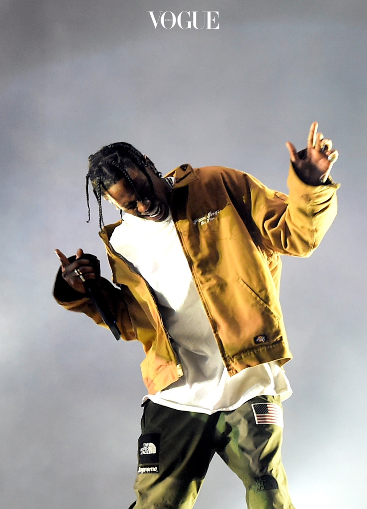 INDIO, CA - APRIL 16:  Rapper Travis Scott performs on the Coachella Stage during day 3 of the Coachella Valley Music And Arts Festival (Weekend 1) at the Empire Polo Club on April 16, 2017 in Indio, California.  (Photo by Kevin Winter/Getty Images for Coachella)