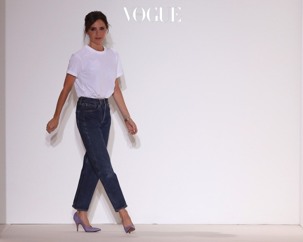 NEW YORK, NY - SEPTEMBER 10:  Designer Victoria Beckham walks the runway for Victoria Beckham fashion show during New York Fashion Week: The Shows on September 10, 2017 in New York City.  (Photo by JP Yim/Getty Images)